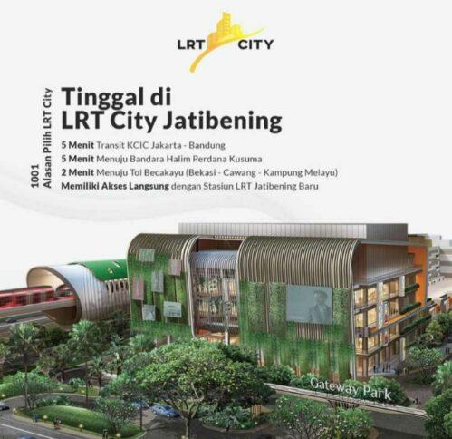 Mau Punya Apartemen 0 KM Ke Stasiun LRT & Dapat Banyak Hadiah? LRT City Jatibening Aja! DP 0%, Bunga Fix 1 Tahun, Dll